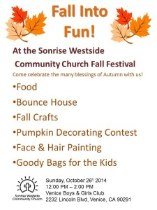 Sonrise Fall Festival 2014 Flyer